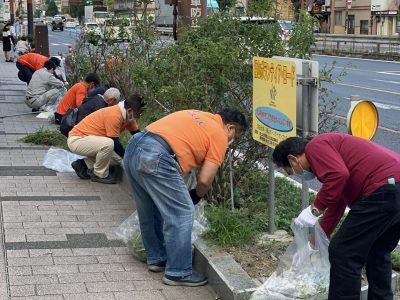 今年度第2回目(9.23)のボランティアロード清掃活動をしました。(福山ピースLC)